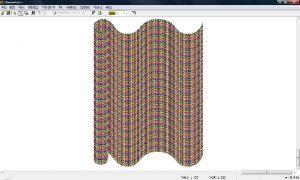 織物設計プレビュー画面例(Drapery)