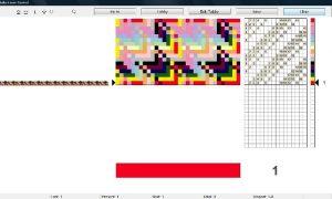 織機連動ソフト・ウィーブポイントプロダクションの画面例