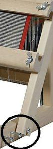 手織機レーナの筬框(おさかまち)の支点